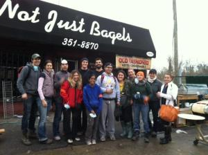 SandyBaggers at Not Just Bagels