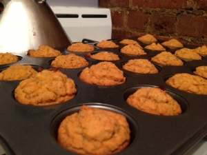 Pumpkin Chia Mini Muffins
