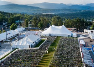 Ironman Lake Placid transition area