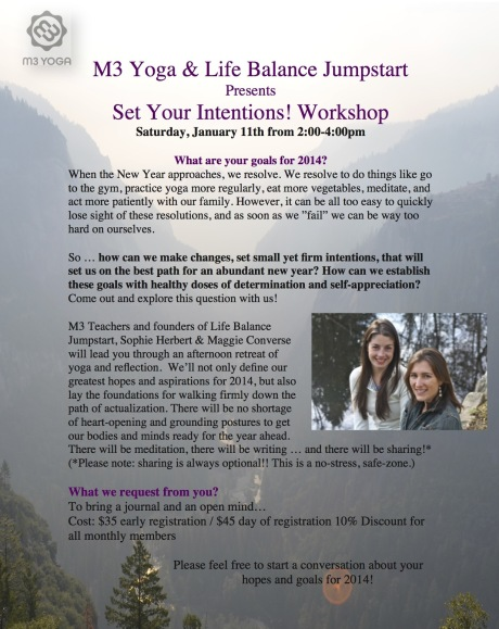 Set Your Intentions! Workshop